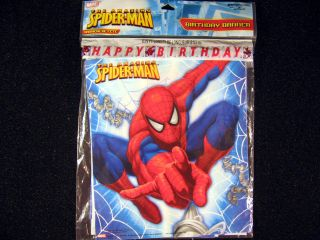 Amazing Spider Man Happy Birthday 8' Banner Party Supplies Decoration Spiderman