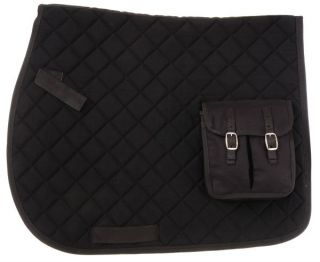 Australian Stock Saddle Pad with Trail Bags Black