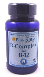 Vitamin B Complex B 12 180 Tablets Cholesterol Stress Memory Weight Loss