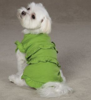 Dog Ruffle Dog Tank T Shirt Tee Pink Green East Side Co