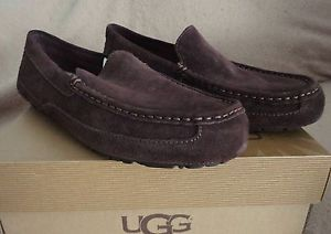 UGG Adler Mens Shoe Slipper Size 9 Cocoa Brown Suede New