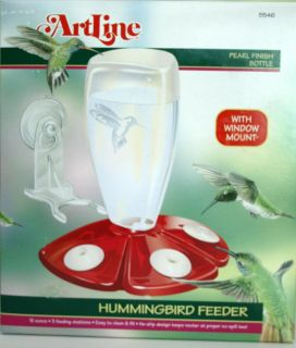 Birdfeeder Pearl Window Mount Hummingbird Bird Feeder