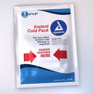 "5 Instant Cold Packs Single Use 6"" x 9"" Therapy Swelling Pain Dynarex Item 4512"