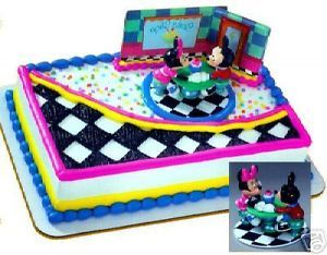 Mickey Minnie Mouse Cake Decoration Party Supplies Topper Kit Set Coffee Shop NW