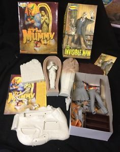Moebius Invisible Man Mummy Model Kits Partially Built Complete 903 908