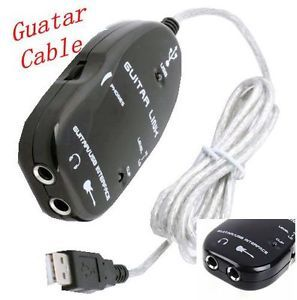 One Promotions Guitar to USB Interface Link Audio Cable PC Mac Recording Adapter