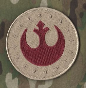 Seal SP Ops Tacp CCT Combat Control Velcro Patch Star Wars Rebel Logo Desert DD