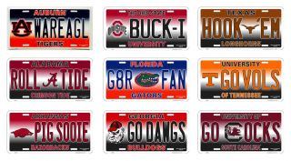 Novelty License Plates NCAA College Teams Fan Gear Car Truck Tag Sign