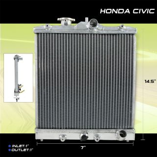 92 00 Honda Civic Del Sol SI SOHC MT M T High Flow Cooling Aluminum Radiator