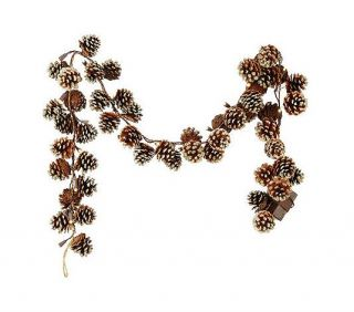 Bethlehem Lights Battery Operated 5' Glittered Pinecone Garland with Timer