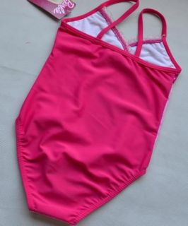 Kids Girls Barbie Princess Swimsuit Bikini Costume Tankini Swimwear Size 4 5Y