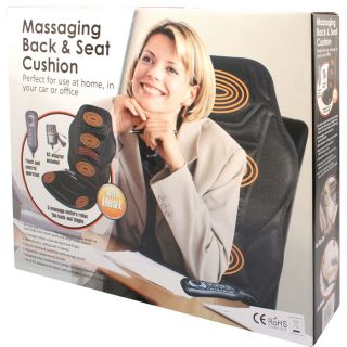 New Full Seat Heated Back Seat Massage Cushion for Chair Van Car Massagers
