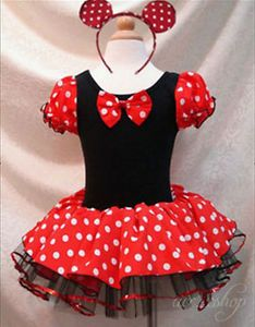 Baby Girl Minnie Mouse Polka Dots Party Dress Costume Ballet Tutu Xmas Size 5T