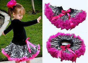 Hot Baby Girls Zebra Print Princess Child Ballet Dance Costume Tutu Dress Skirt