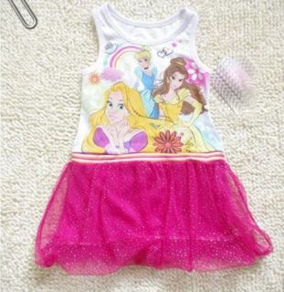 Girls KIDS1 7Y Princess Dora Costume Summer Top Fairy Dress Tutu Skirt Outfit