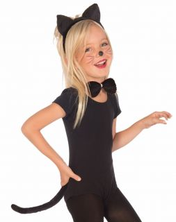 Kids Girls Black Cat Halloween Costume Kit