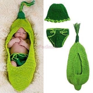 Newborn 12M Baby Girl Boy Animal Mermaid Crochet Knit Costume Outfits Photo Prop
