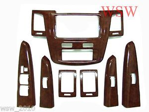 Interior Wooden Panel Wood Dash Consoles Cover Trim Toyota Fortuner 05 06 07 08