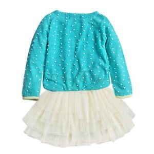 1pc Baby Girls Kids Toddler Swan Knit Party Top Dress Tutu Costume Outfit Sz 3T