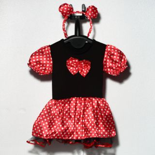 Halloween Xmas Polka Dots Minnie Mouse Baby Girl Fancy Party Costume Dress BR