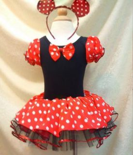 Halloween Minnie Mouse Girl Pary Costume Ballet Tutu Dress 2 10Y Kids Christmas