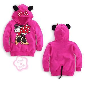 Toddler Girls Hoodie Coat Kids Minnie Mouse Bow T Shirt Costume Outfit Sz 4T