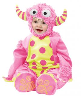 Toddler Kids Girls Cute Pink Monster Halloween Costume 2 4T