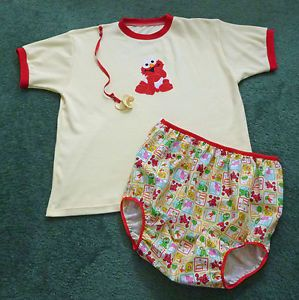 Adult Baby Diaper Set Sesame Street Baby Elmo Chest 47""