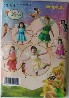 Simplicity Sewing Pattern 2559 Toddler Girls Costumes Fairies Sizes 1 2 4