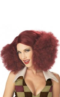 70's Disco Sensation Halloween Costume Wig Burgundy 70164