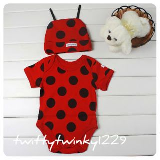 Baby Animal Safari Costume Outfit w Hat Bee Cow Gireffe Zebra Leopard Ladybird
