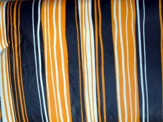 Halloween Black Orange White Stripe Vinyl Tablecloth Flannel Back All Sizes New