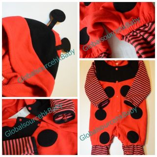 Baby Boy Girl Ladybird Bee Halloween Christmas Party Costume Romper Outfit 6 24M