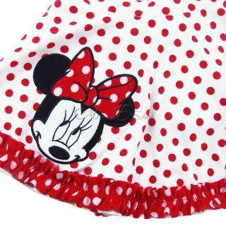 Polka Dots Girl Minnie Mouse 2pc Swimsuit Bikini Swimming Costume Bathers 2 9 Y