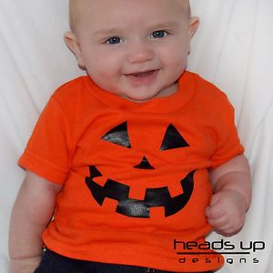 Pumpkin Shirt Jack O' Lantern Pumpkin Costume Boy Girl Baby Toddler Adult Onesie