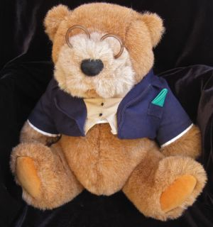 Lands End Gund Bear Big Daddy Rugby Plush Stuffed 1992