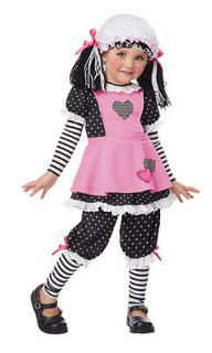 Toddler Baby Doll Girls Raggedy Ann Halloween Costume