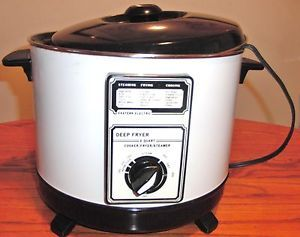 Eastern Electric Cooker Deep Fryer Steamer Vintage