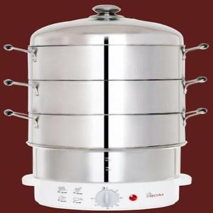 Secura 3 Tier Stainless Steel Food Steamer Kitchen Appliances Electronic Cookers
