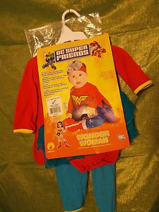 DC Super Friends Wonder Woman Girl Infant Halloween Costume Size 6 to 12 Months