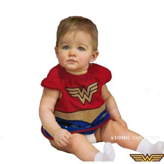 Wonder Woman Costume Halloween Bib Newborn Infant Girls Suit Fancy Dress 0 9M