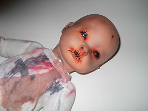 Zombie Baby Doll Halloween Prop Demon Doll Costume OOAK