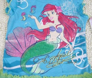 Girls Size 4 5 6 6X Princess Ariel Mermaid Summer Party Dress Costume Tutu Skirt