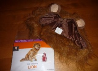 New Pet Dog Halloween Costume Lion Size XL XXL 30 100 lbs 22 36 in Cowardly Mane