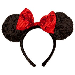 Women Adult Minnie Mouse Red Bow Ears Headband Gloves NWT Disney Parks Store