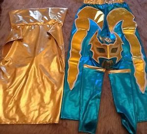 WWE Sin Cara Mattel Fancy Dress Up Costume Outfit Wrestling Suit Child Kids New