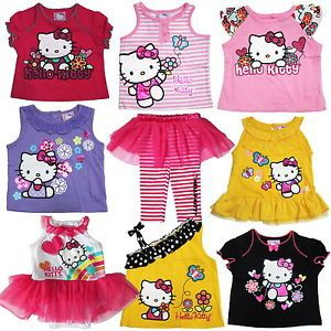 Baby Girl Bodysuit Tutu T Shirt Vest Culottes Hello Kitty Summer Clothes New