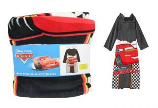 Disney Pixar Cars Lightning McQueen Robe Plush Wrap with Sleeves