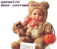 New American Girl Bitty Baby Trick 'R Treat Halloween Bear Costume Only or Twins