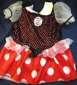 Disney Baby Minnie Mouse Costume Dress Sz 12 18 mos Halloween